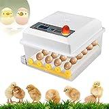 Mini Incubatrice Automatica da 16 uova KKTECT, Incubatrice per uova con display LCD e controllo intelligente della temperatura per la cova di pollo Anatra Oca Quaglia Uccelli Turchia