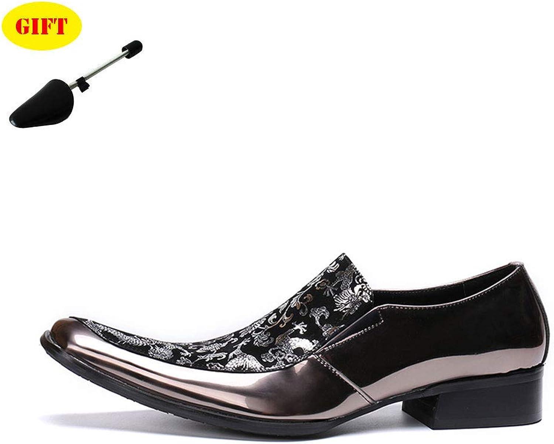 BJ&HH Oxford Chaussures Hommes TêTe voitureréE Imprimé Chaussures Bas Pour Aider à DéFinir Pied Chaussures Chaussures Robe HabilléE Rue FêTe Chaussures De Mariage,marron,EU46 UK9.5