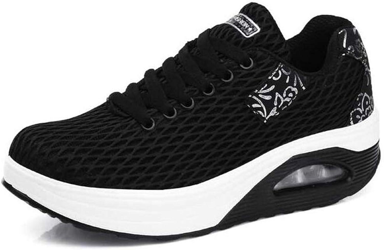 Hoxekle kvinnor Wedge skor skor skor ModeLace Up Flat skor Comfortable Platform skor kvinna Casual springaing skor  utlopp till salu