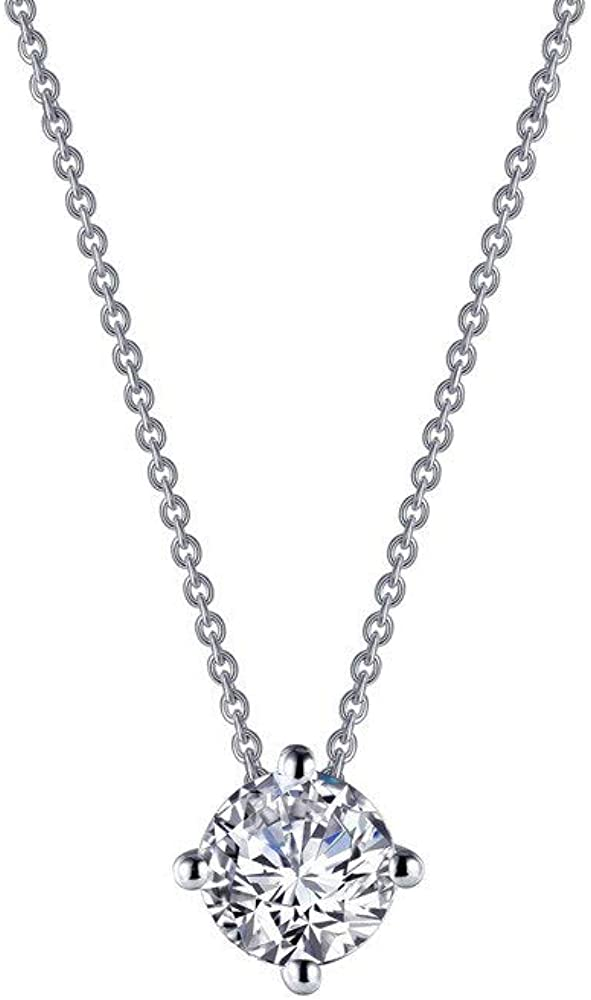 Lafonn Classic Platinum-Plated Simulated C Necklace Manufacturer OFFicial shop Diamond 1.5 Regular store