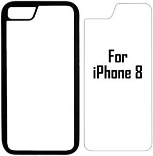 10x Sublimation Blank Cases Compatible with Apple iPhone 8-Rubber-Black - Blank Dye Cases and Inserts for Dye Sublimation Phone Cover/Blank Printable Cases, Made by INNOSUB USA