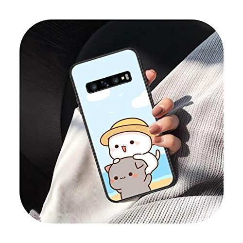 Carcasa para Samsung Galaxy Note S 6 7 8 9 10 E 20 Ultra Edge Plus, carcasa blanda de silicona para Samsung S7 Edge, diseño de gato, color negro