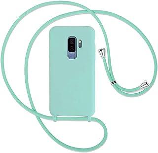 Yutwo Mobiele telefoon ketting voor Samsung Galaxy S9 Plus - Smartphone hoesje met koord - Krasbestendig Siliconen Telefoo...