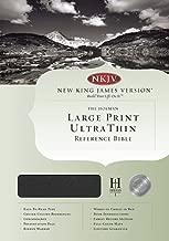 NKJV Large Print Ultrathin Reference Bible, Black Bonded Leather (King James Version)