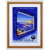 Travel Transport Sncf Train Cote D'azur Harbour Sea France Framed Wall Art Print 旅行輸送列車港フランス壁