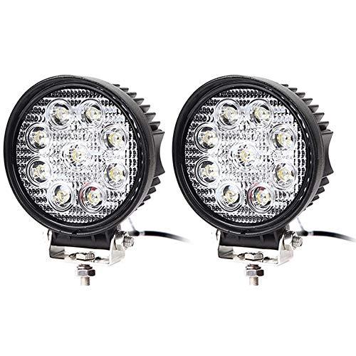 Karpal LED Arbeitsscheinwerfer LED Offroad Zusatzscheinwerfer 12V 24V Scheinwerfer IP67 LED Offroad Arbeitsleuchte für SUV ATV KFZ (2 Stück)