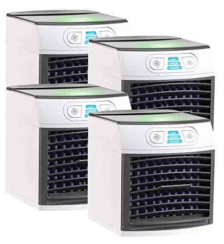 Sichler Haushaltsgeräte Mobile Mini Klimaanlage: 4er-Set 2in1-Tisch-Luftkühler und -Luftbefeuchter LW-110 (USB-Klimaanlage)