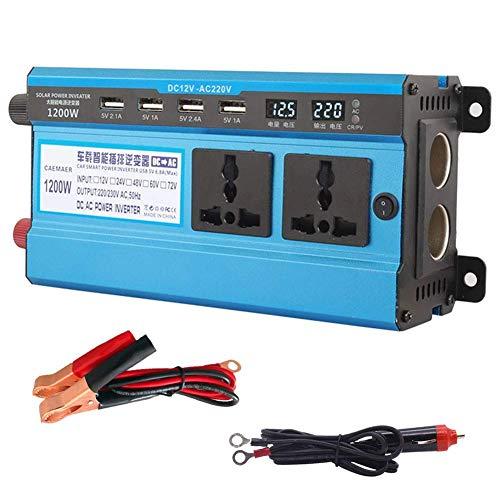 J-Love Profesional 12V/24V DC a 220V AC 500W-4000W Inversor de Corriente Ventilador doméstico Convertidor de Coche de refrigeración para electrodomésticos Fuente de alimentación de Emergencia