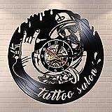 N/Y / Y Tattoo Studio Rótulo de establecimiento Reloj de Pa