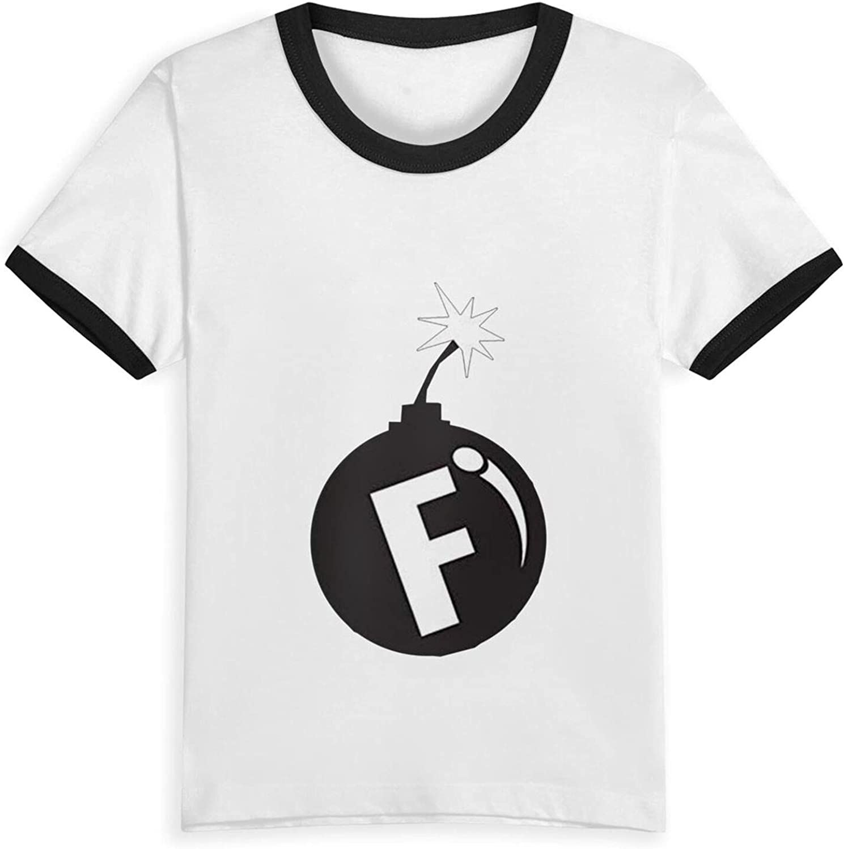 F Bomb Boys Girls Shirts Novelty Kids Short Sleeve T-Shirt Tops Tees 2-5 Years