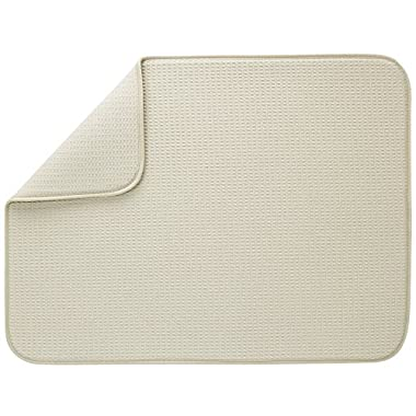 S&T XL Microfiber Dish Drying Mat, 18  x 24 , Sand
