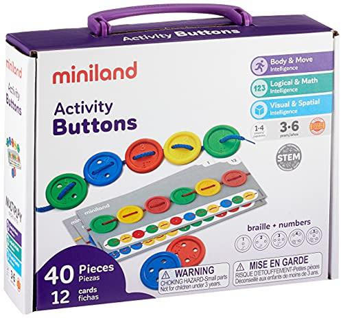 Miniland Activity Button-Botones para Coser, Multicolor (31791)