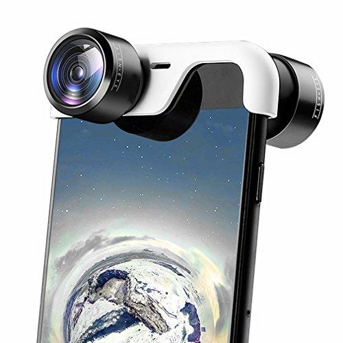 First2savvv VR Lentes para Móviles, 360 Grados Lente panorámica de Objetivos para iPhone 8 Plus & iPhone 7 Plus len-iPhone 8 Plus-360-05
