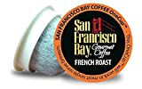 San Francisco Bay Coffee OneCup, 144 Count- Single Serve Coffee, Compatible with Keurig K-Cup Brewers (French Roast)
