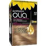 Garnier Tinta Capelli Olia, Colorazione Permanente senza Ammoniaca per una Fragranza Delicata, Copre il 100% dei Capelli Bianchi, Biondo Chiaro, Confezione da 1