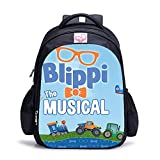 Blippi mochilas escolares bolsas de almuerzo para estudiantes bolsas de gran capacidad, 8, S,