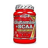 Amix - Glutamina + Bcaa - Suplemento Alimenticio - Mejora del Rendimiento - Contiene Aminoácidos Bcaa - Glutamina en Polvo - Nutrición Deportiva - Sabor a Mango - Bote de 1 Kg