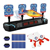 JELOSO Electronic Shooting Targets Digital Scoring Shooting Games with Foam Dart Toy Guns, 4 Auto Reset Targets Toys for 6 7 8 9 10 11 12 Year Old Kids Boys Girls, for Nerf Guns Toys