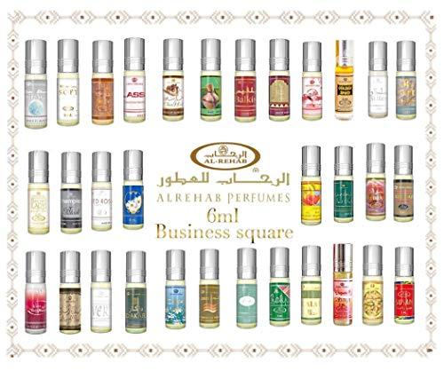 Al Rehab 6ml Véritable Attar Parfum Sans Alcool Musk Oud Roll on Haute Qualité (Africana)