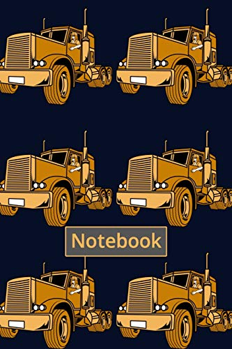 Notebook: Female Truck Driver Journal - Notebook (6x9) 160 blank + dot grid pages for Journaling Dra