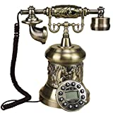 SXRDZ Antiguo Vintage Rotary Manos Libres Teléfono Teléfono con Cable Teléfono Línea Línea Artesanía Retro Decoración de la Oficina Inicio