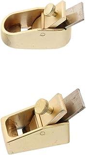 kowaku 2pcs Brass Plane Violin Making Luthier Tool Woodworking Thumb Plane Golden