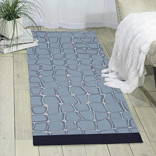 Qing_II Teppichläufer 60 x 180 cm Steinwand Nahtlos Modern Area Teppich Teppich für Schlafzimmer Boden Sofa Wohnzimmer