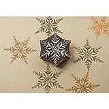 Rayher Hobby 58878000 Blockwallah Holzstempel Motiv Eisblumenkristall, 7,5 x 7,5 cm, Stempel...