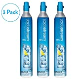Sodastream 60 Liter Carbonator Set of Three Spare Replacement Cylinders for Soda Stream Machines and Samsung Refrigerators Buy a 3 Pack and Save by SodaStream