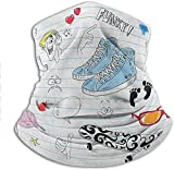 shenguang Bandana Notebook Design with a Variety Drawings Funky Skateboard Shooting Star Elastic Headwear So Comfy and Great Quality 10 x 11.6 Inch