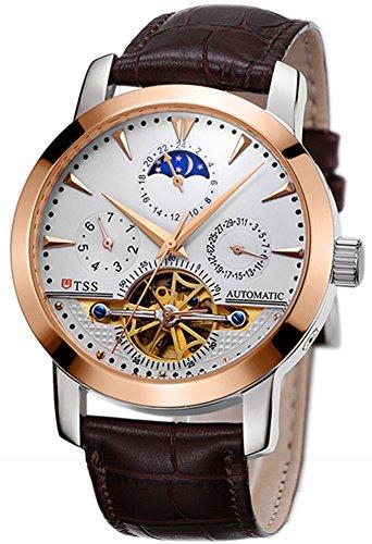 TSS Men's Automatic Tourbillon Moonphase Watch T8030