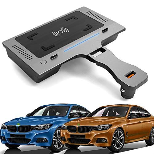 AWYLL Cargador de Coche inalámbrico para BMW 3 Series G20 G28 2020 2021, Cargador de teléfono de Carga rápida de 15 W con Puerto USB para iPhone 12 Pro MAX Mini 11, Galaxy S20 / S10, Huawei, Xiaomi