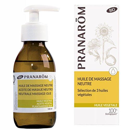 Pranarôm |Mélange d'Huile de Massage Végétale Neutre Bio (Eco)|Formule Riche Et Non grasse|100 ml