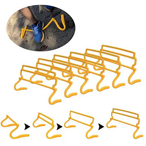 壊れにくい トレーニング ミニハードル 6台セット 収納袋付 高さ4段階 調節可能 子供成長しても長く使える…