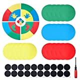 WinSpin 15' Twister Game Spinner Template Body Twister Moves Board Sport Twisting Game Group Game for Parties and Events