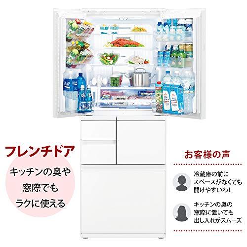 シャープSHARP冷蔵庫SJ-AF50G-Wプラズマクラスター(幅68.5cm)502Lガラスドア/電動フレンチドア(観音開き)メガフリーザー6ドアピュアホワイト