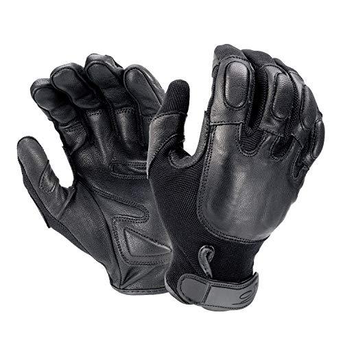 Hatch SP100 Defender II Riot Control Glove w/Steel Shot - Black, Medium