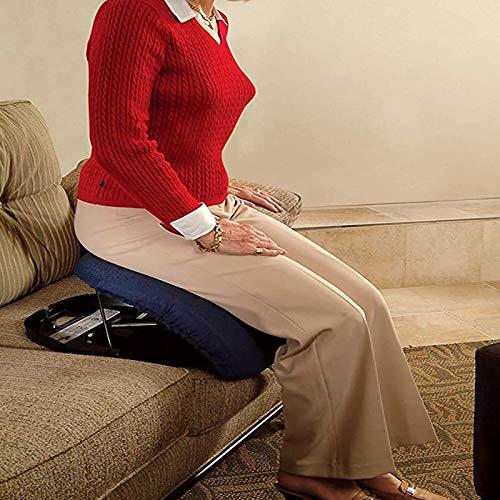 PINGJIA CojíN Asiento ConduccióN De Coche PortáTil, Upeasy CojíN Easy Seat Assist para Personas Mayores Y Discapacitadas - Dispositivo De Elevación De Autoayuda para Asientos - Soporta hasta 150 Kg ⭐