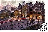 zhangshifa Rompecabezas para 1000 Piezas,Canal Sunrise Amsterdam Puzzle De Paisaje,Vista De National Geographic Rompecabezas De Madera,Puzzles Regalo De Cumpleaños para Niños Y Adultos(75 * 50Cm)