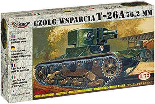 Mirage Hobby Model Kit - Czolg Wsparcia T-26A 72,2mm Tank - 1 72 Scale - 72160 by Miage Hobby