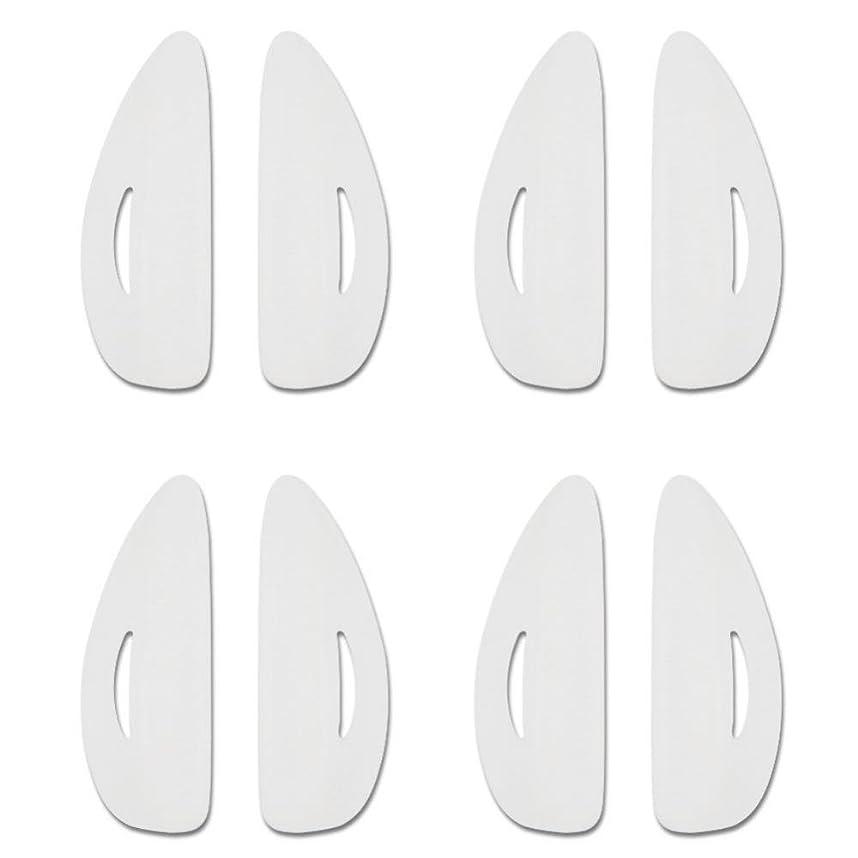 分泌する相手傑出したSemme 8pcsシリコーン耐久性のあるつけまつげパッド、カーラーカーリングリフティング偽のまつげパッド4サイズ