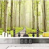 Sijoo Papel Tapiz 3D Mural Gordo, habitación Infantil, Sala de Estar HD Bosque Camino Pintura Fondo de Pantalla, habitación Infantil, Fototapeta Nowoczesna