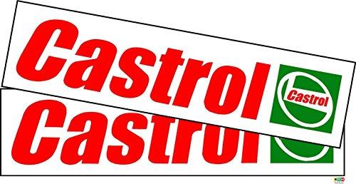 Castrol - Adhesivo estilo retro para coche o moto, 180x 45mm