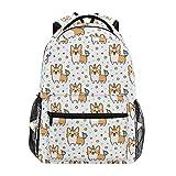 Wamika Welsh Corgi Dog Unicorn Backpacks for Kids Women Men, Dogs Design Computer Laptop Backpack, Casual Book Bag Travel Camping Daypack
