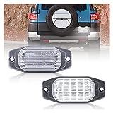 WYYUE 12V de Luces LED para matrículas, lámparas de luz para matrículas, Accesorios de luz para matrículas Compatible con Land Cruiser(FJ80) 1991-1997 for To-yota FJ Cruiser(XJ10, GSJ15) 2007-2014