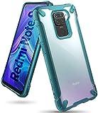 Ringke Fusion-X Diseñado para Funda Xiaomi Redmi Note 9 (2020) Transparente Carcasa Redmi Note 9, Parachoque TPU Resistente Impactos Funda para Redmi Note 9 (6.53 Pulgadas) – Turquoise Green