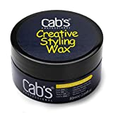 Cab's Creative Styling Hair Wax Clay for Men with Strong Hold, High Shine, Cool Styling, Modern Hairstyles, Pompadour & Slick Back Looks