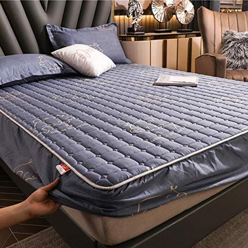 Nuoxuan Se Adapta Perfectamente al colchón,Ropa de Cama Impresa Acolchada de poliéster, Dormitorio de apartamento Individual Doble tamaño King-Gris 4_200x220cm