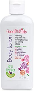 Good For You Girls Natural Body Lotion with Aloe, Sunflower Seed Oil, Chamomile and Lavender, Vegan and Paraben Free - Honeydew