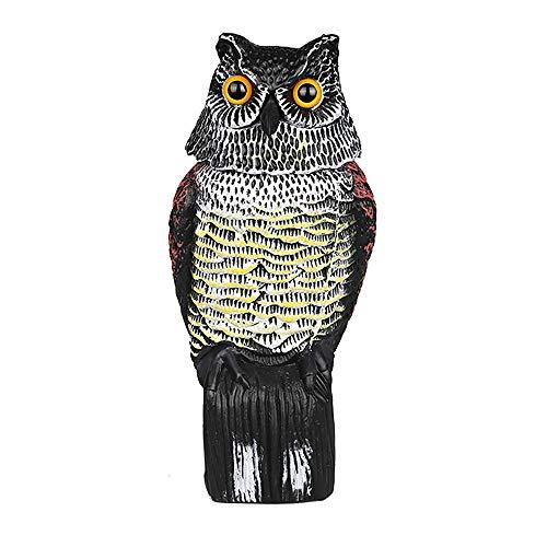 Owl Decoys to Scare Birds Away, Owl Decoy Bird Deterrent, Pack Fake Horned Owl Bird Scarecrow Decoy, Plastic Owl Bird Deterrents for Patio Yard Garden Protector(2pcs)